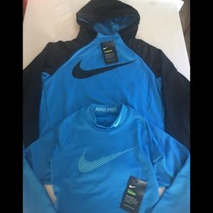 Nike Therma Hoodie & Pro Warm Training Shirt